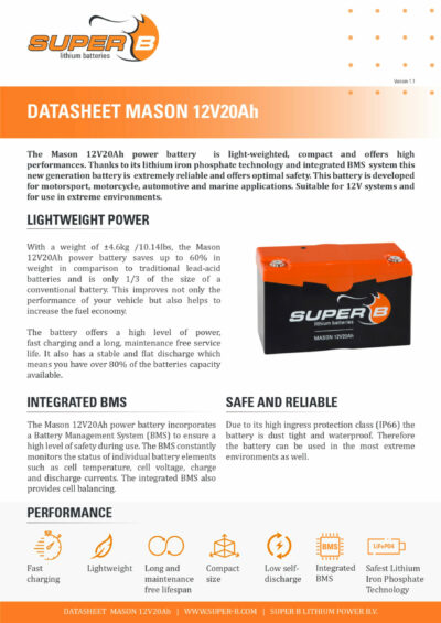 Mason12V20Ah_Page_1 Datenblatt