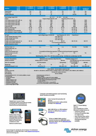 Victron MultiPlus Wechslerichter 12-3000-120-50_Page_2 Datenblatt